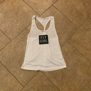 Fit Girl burn out top